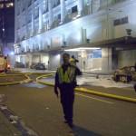 Stanley Cup 2011 Vancouver - Feuerwehreinsatz: Hudson Bay und ausgebrannte Autos